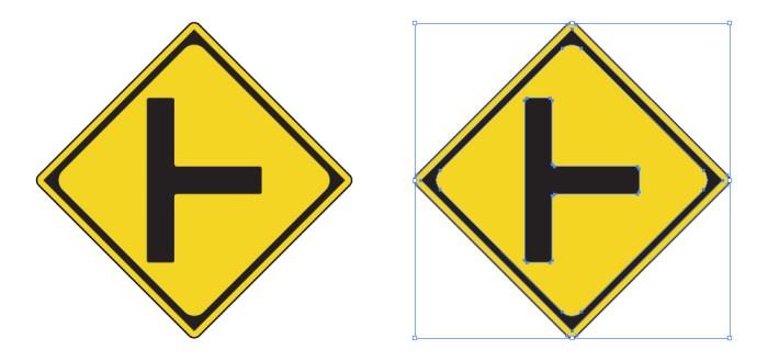 道路交差点を表す道路標識