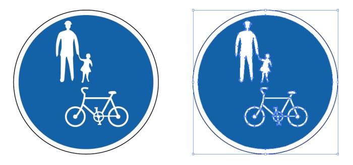 自転車及び歩行者専用を表す道路標識