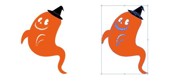 ハロウィンっぽいゴースト(幽霊)のイラスト