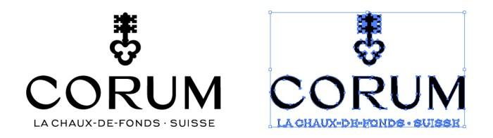 コルム(CORUM)のロゴマーク
