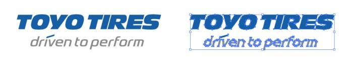 東洋ゴム工業(TOYO TIRES)のロゴマーク
