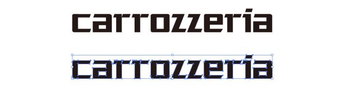 カロッツェリア(carrozzeria)のロゴマーク
