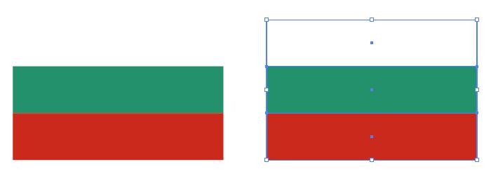 白・緑・赤の組み合わせからなるブルガリアの国旗