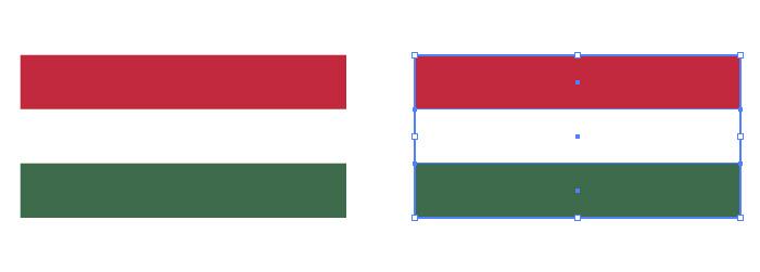 赤・白・緑の組み合わせからなるハンガリーの国旗