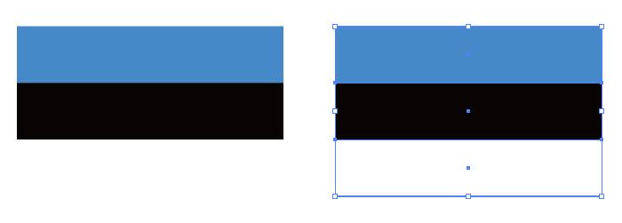 青・黒・白の組み合わせからなるエストニアの国旗