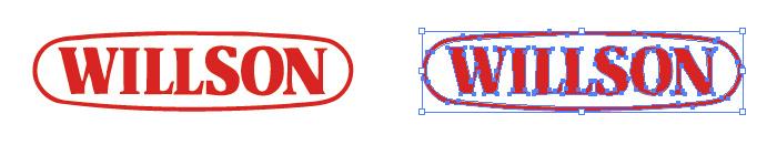 カーケア用品メーカー、ウイルソン(WILLSON)のロゴマーク