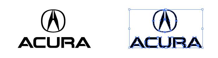アキュラ(ACURA)のロゴマーク