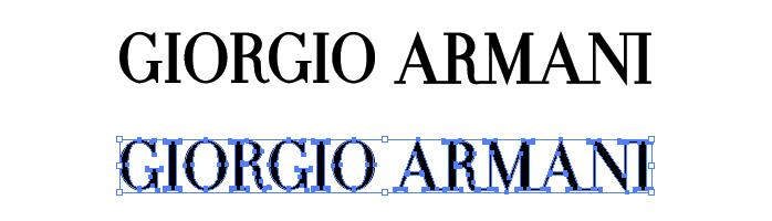 ジョルジオ アルマーニ(GIORGIO ARMANI)のロゴマーク