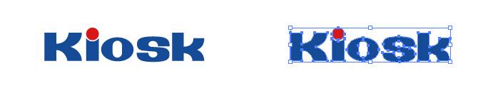 キヨスク キオスク(kiosk)のロゴマーク