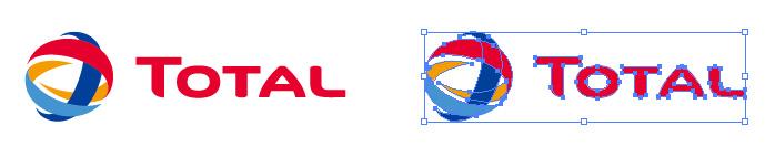 フランスの石油エネルギー企業、トタル(Tota)ロゴマーク