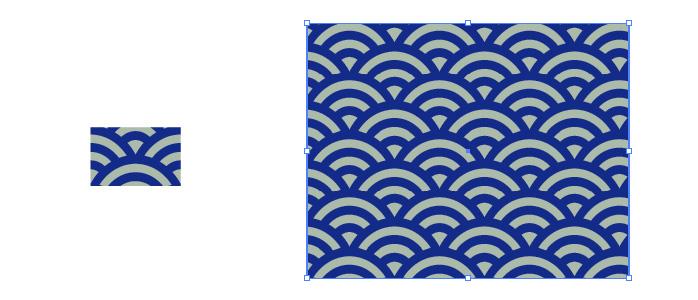 和柄 青海波柄 パターン素材