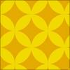 七宝柄のパターン素材