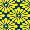 菊菱柄のパターン