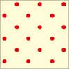 赤いドット柄のパターン