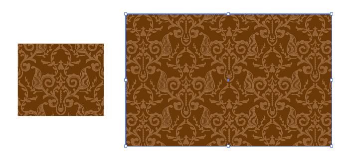 ダマスク柄のパターン