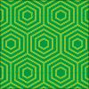 六角形が重なり連なるパターン