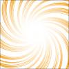 オレンジ色のぐるっと集まる集中線
