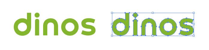 通信販売のブランド、ディノス(dinos)のロゴマーク