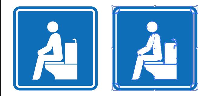 洋式トイレを表すピクトグラム標識アイコンマーク
