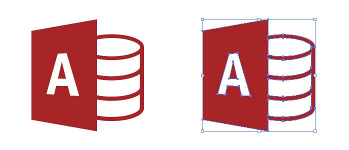 マイクロソフト・アクセス(Microsoft Access)のロゴマーク