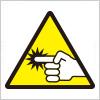指挟み注意標識アイコンマーク