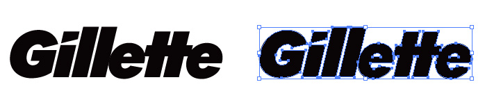 ジレット (Gillette)のロゴマーク