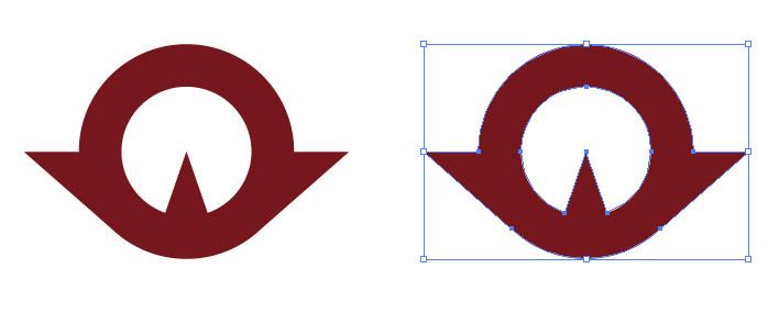 山口県章のロゴ・シンボルマーク