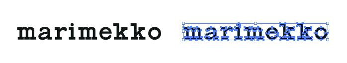 マリメッコ (marimekko)のロゴマーク