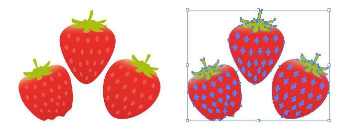 真っ赤 イチゴ いちご 苺 イラスト