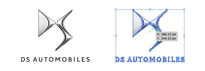 DS AUTOMOBILESのロゴマーク