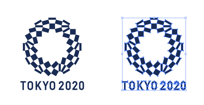 2020年東京オリンピックのロゴマーク