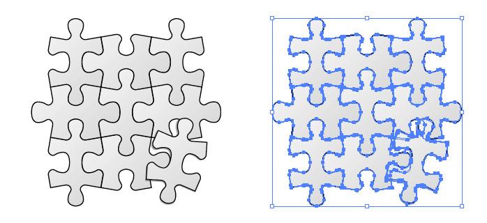 無地のジグソーパズルのイラスト
