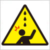 雨漏れ(鳥フン)注意を表す標識アイコンマーク
