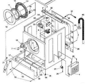Front Load Washers: Lg Front Load Washer Parts Diagram