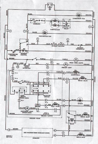 lg frost free refrigerator wiring diagram  cutler hammer