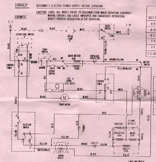 General Electric Washing Machine Wiring Diagram