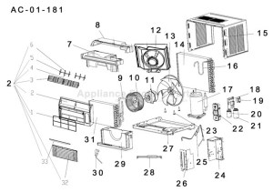 Parts for ESA3087   Haier   Air Conditioners