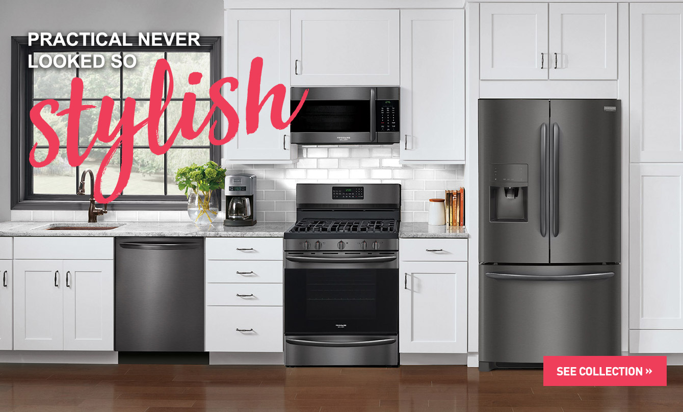 frigidaire gallery black stainless