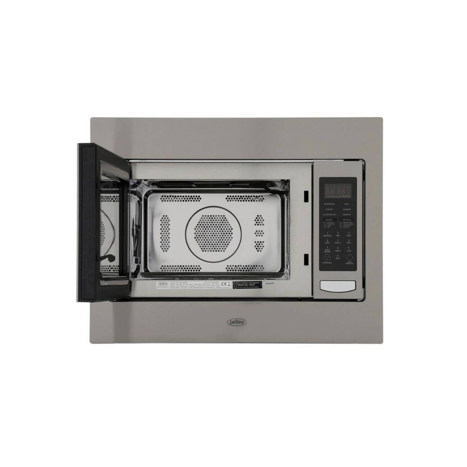 belling bimw60 built in microwave oven for a 60cm wide cabinet stainless steel