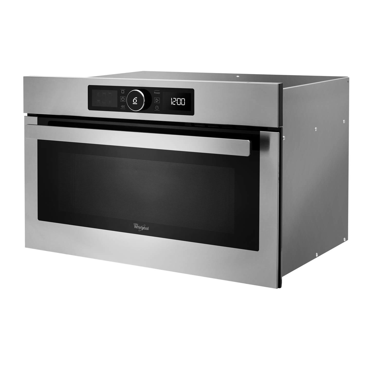 whirlpool amw730ix absolute 31 litre built in microwave and grill stainless steel