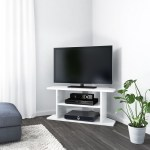 Details About Artemis Small White High Gloss Corner Tv Stand Tv S Up To 40 Art004