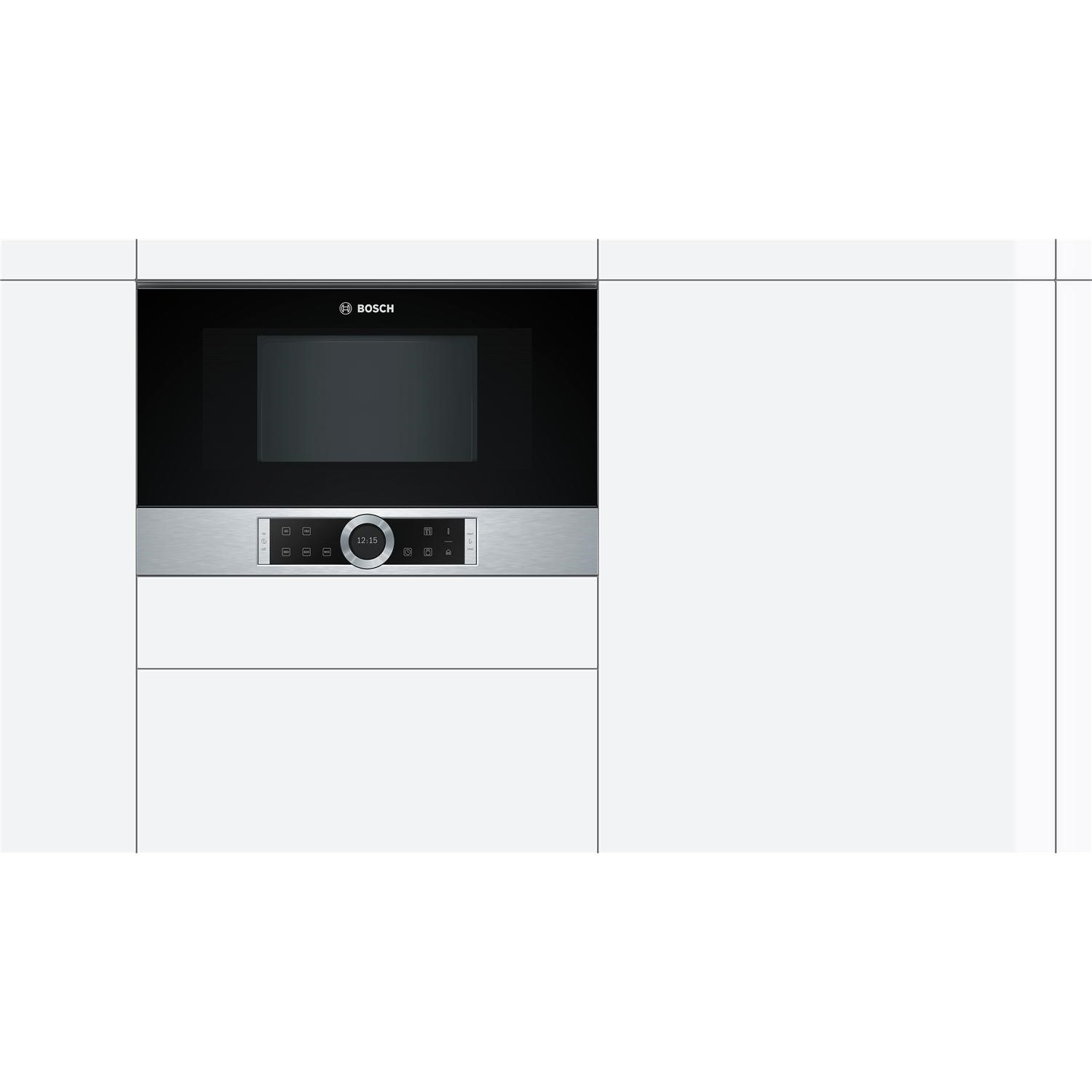 bosch bfl634gs1b built in solo microwave stainless steel