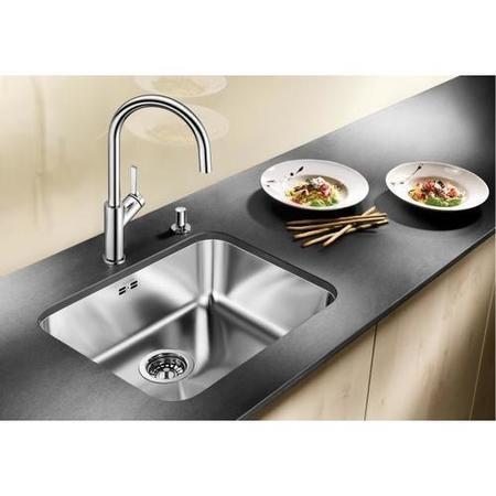 single bowl undermount chrome stainless steel kitchen sink blanco supra 500 u