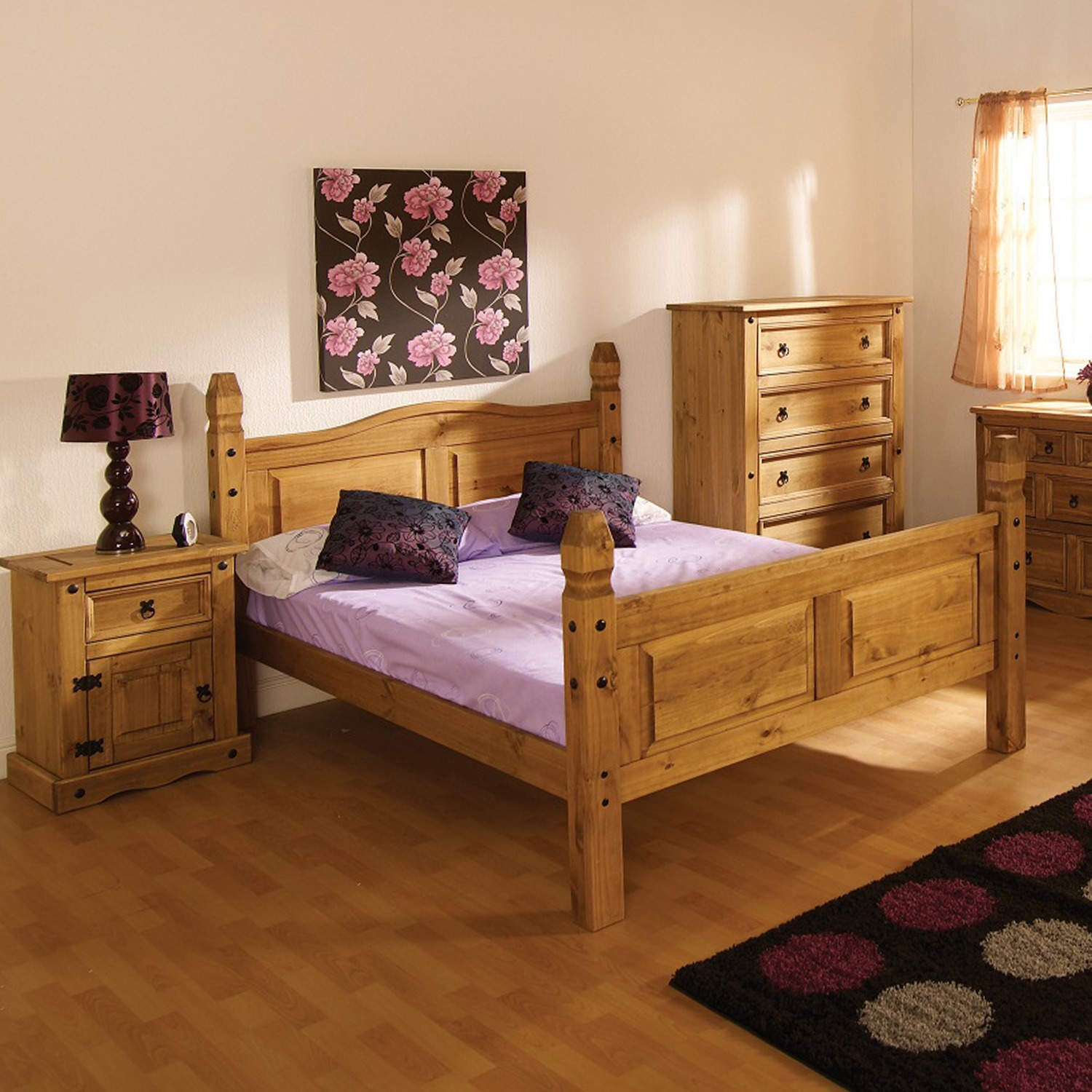 Modern Corona Mexican 5ft Large King Size Bed In Solid