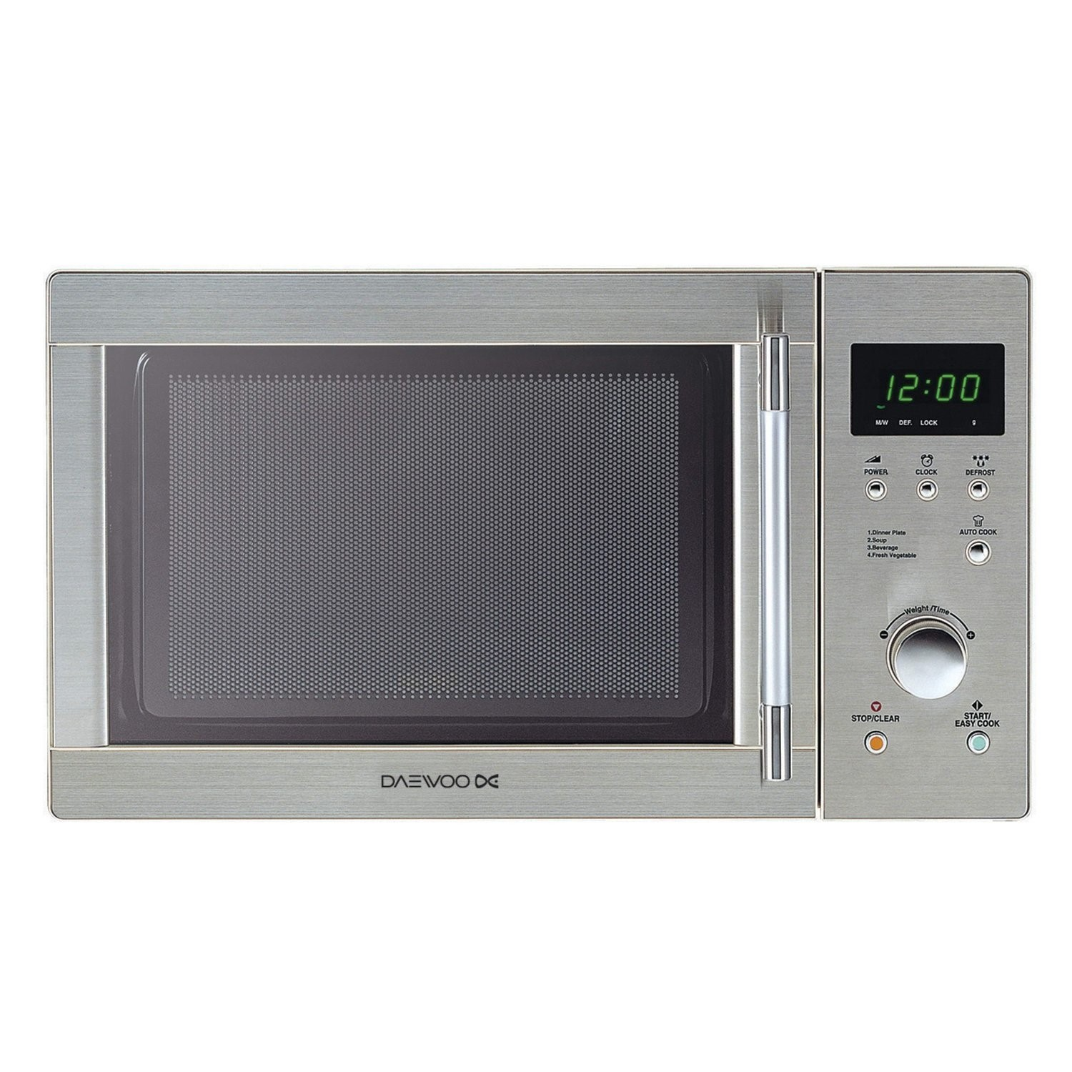 daewoo kor6n7rsr 20l 800w touch control microwave stainless steel