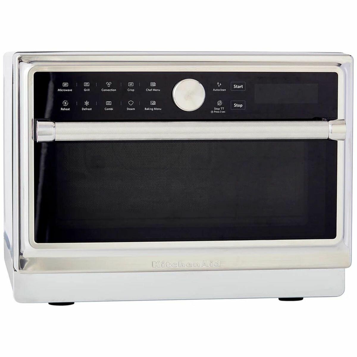 kitchenaid 33l bake assist freestanding microwave oven 5kmw276asl