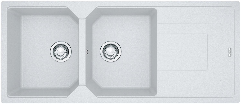 franke ubg221pw urban granite double bowl reversible drainer sink