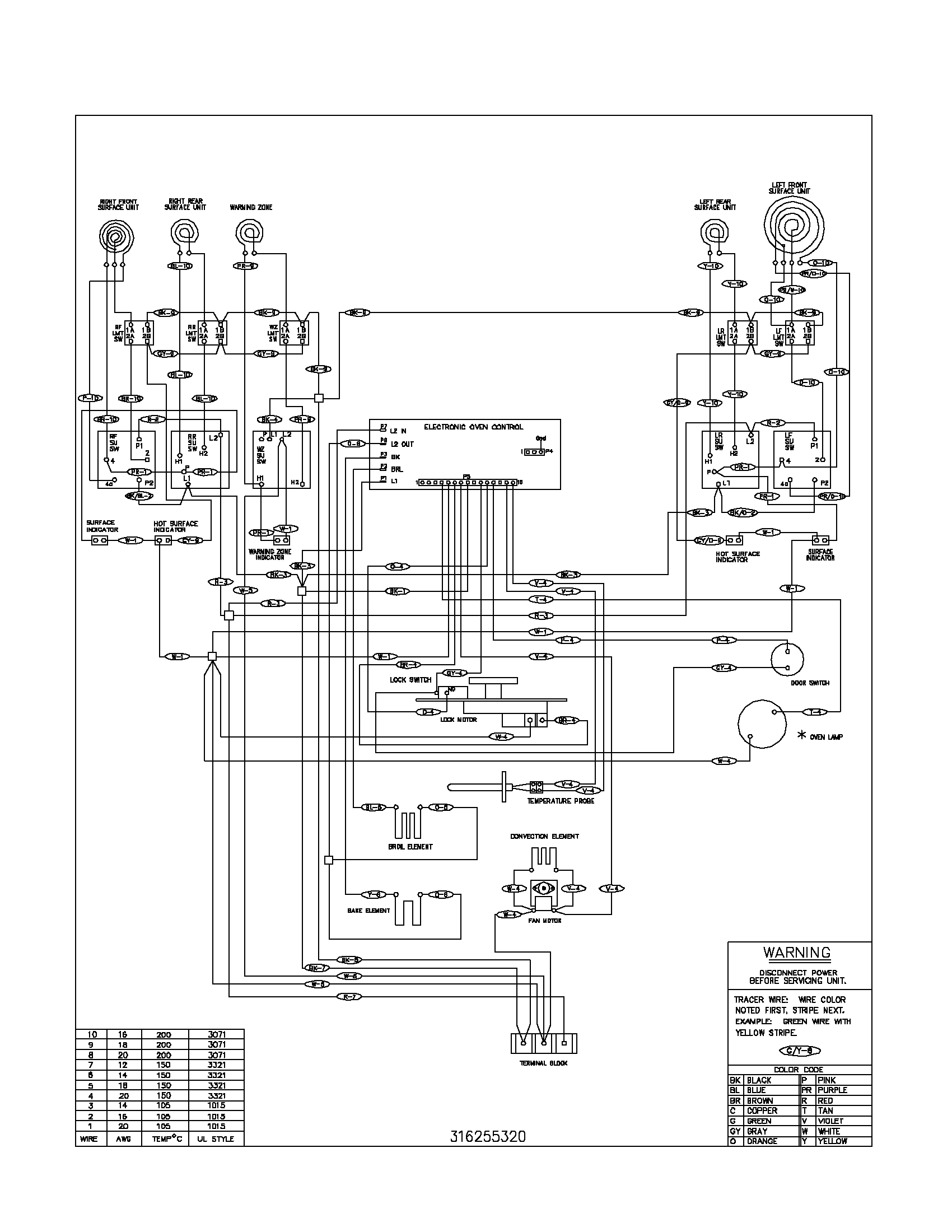 Electric Stove Schematic Wiring