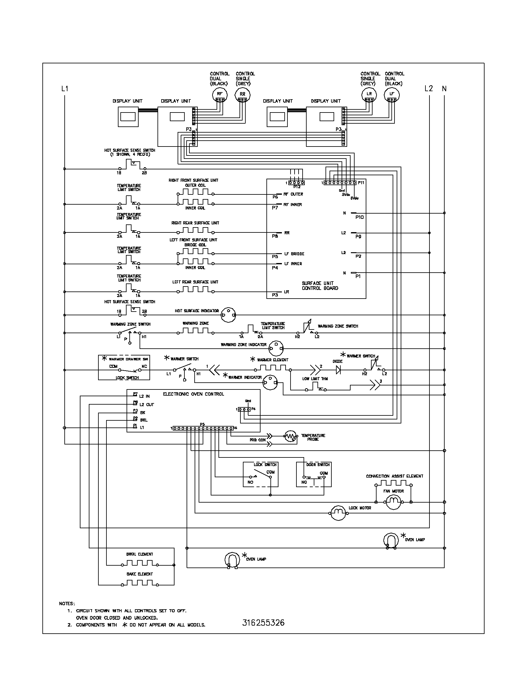Wiring Diagram For Frigidaire Stove