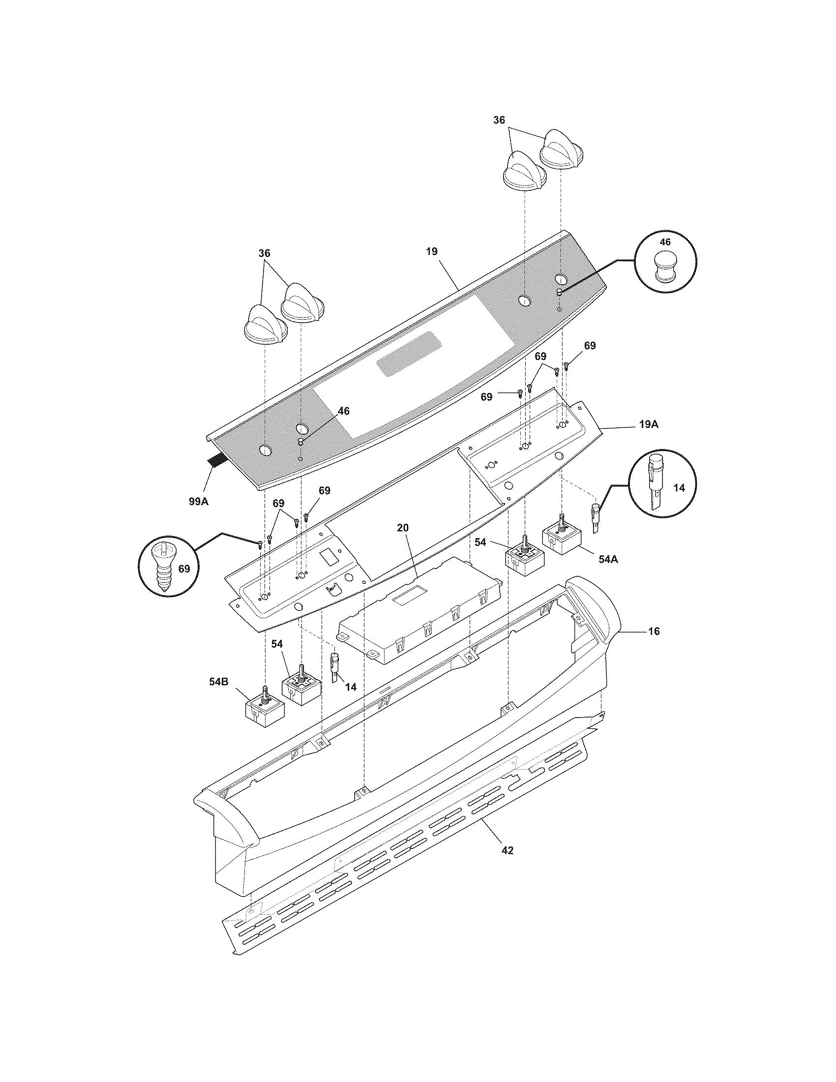 Frigidaire Ples389dcc Electric Range Timer